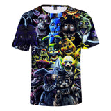 Five Nights at Freddy 3D printing t-shirt