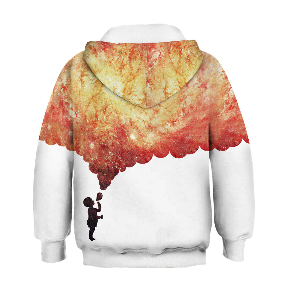 Kids Galaxy Soap Bubble Hoodie Unisex Sweatshirt