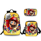 Super Mario backpack with lunch bag and pencil case