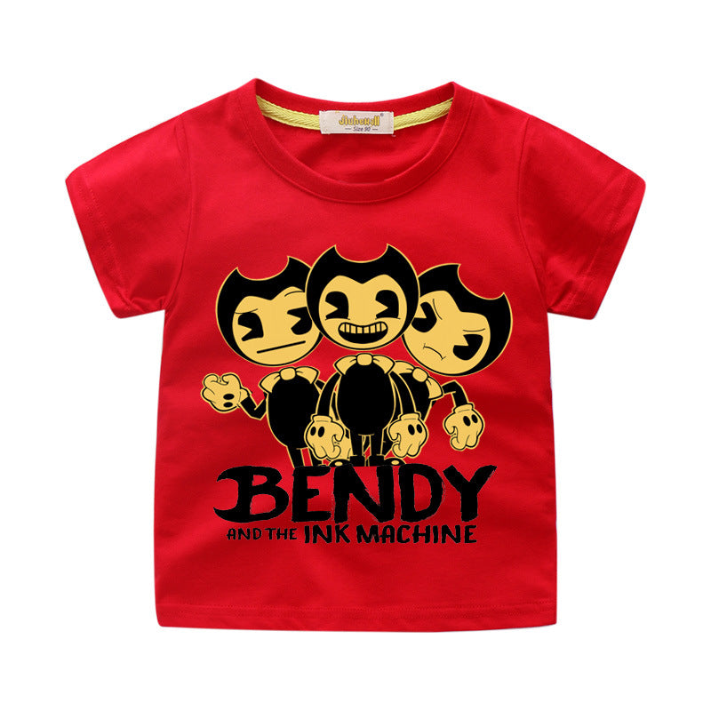 Bendy and the Ink Machine three  Different countenance  kids t-shirt