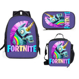 Fortnite Unicorn backpack with lunch bag and pencil case