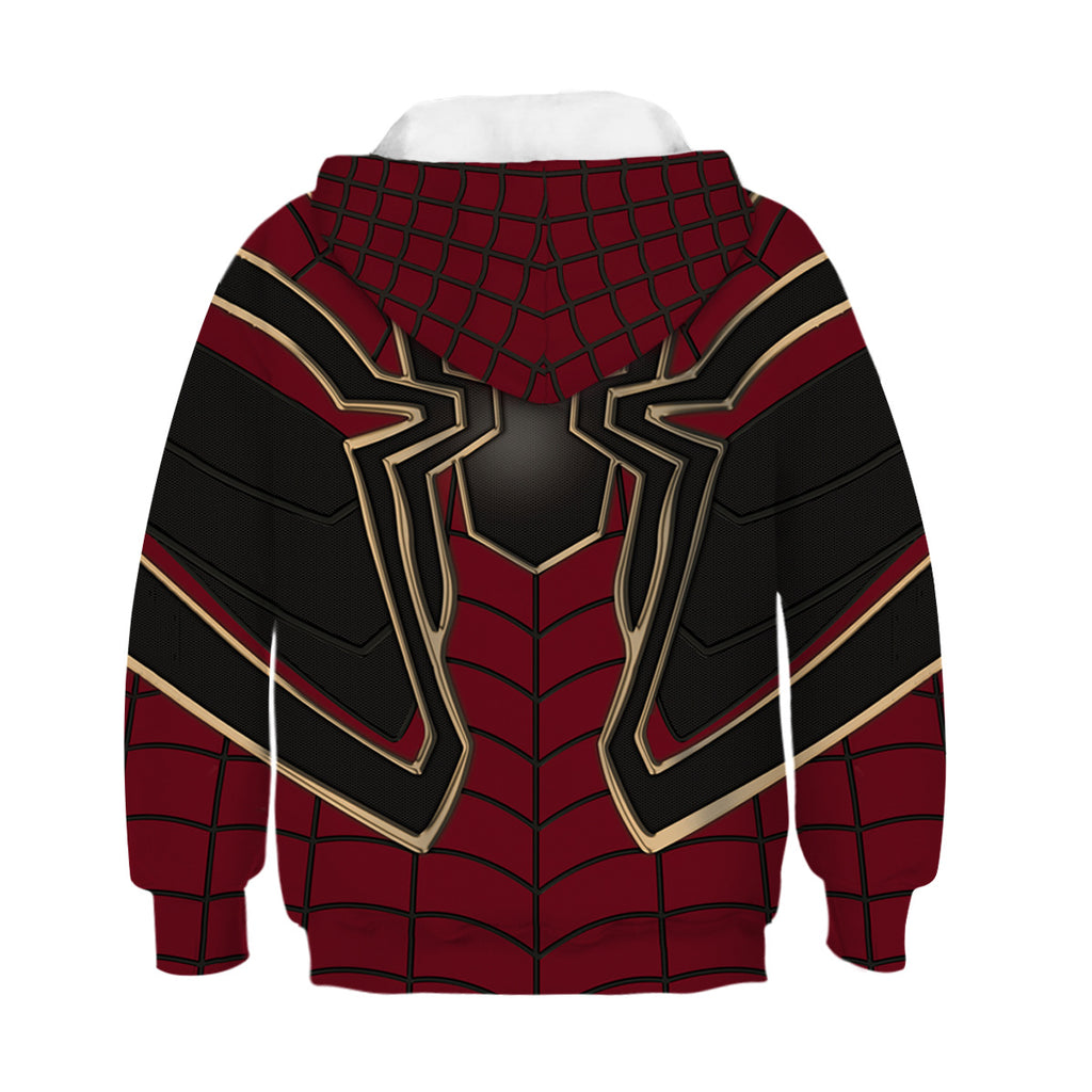 Spiderman 3D Print Kids Hoodies Boys Girls Hip Hop Sweatshirt  4-13T