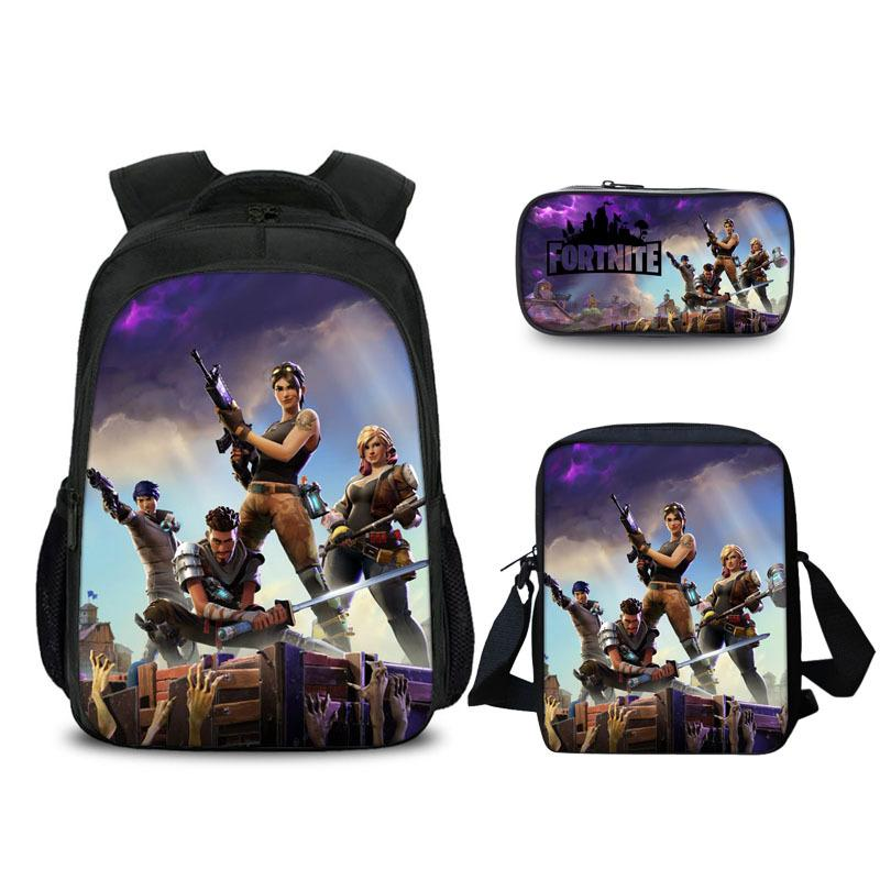 Fortnite Backpack with Lunch bag and pencil box 3PCS