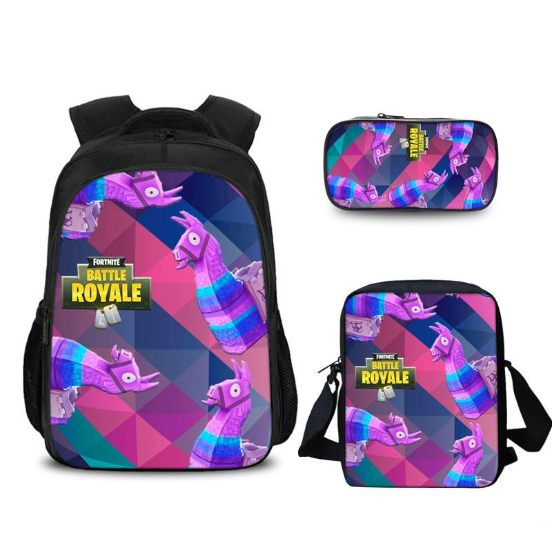 Fortnite Llamas backpack  with lunch bag and pencil case