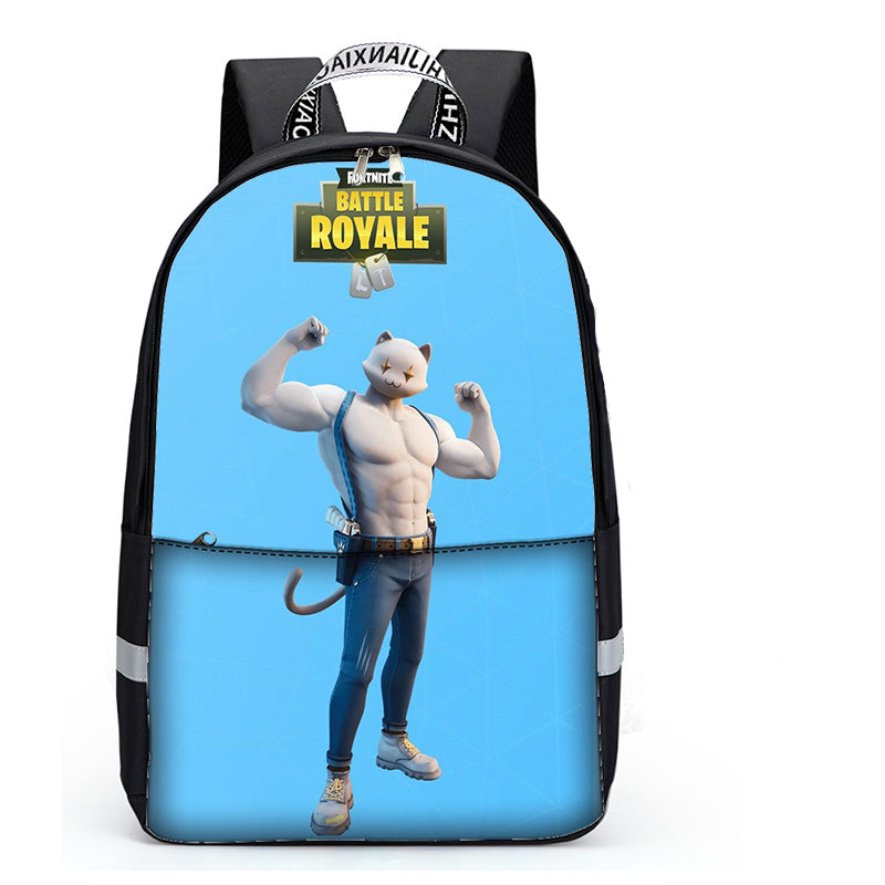Fortnite Meowscles Backpack for Teens Boys Girls