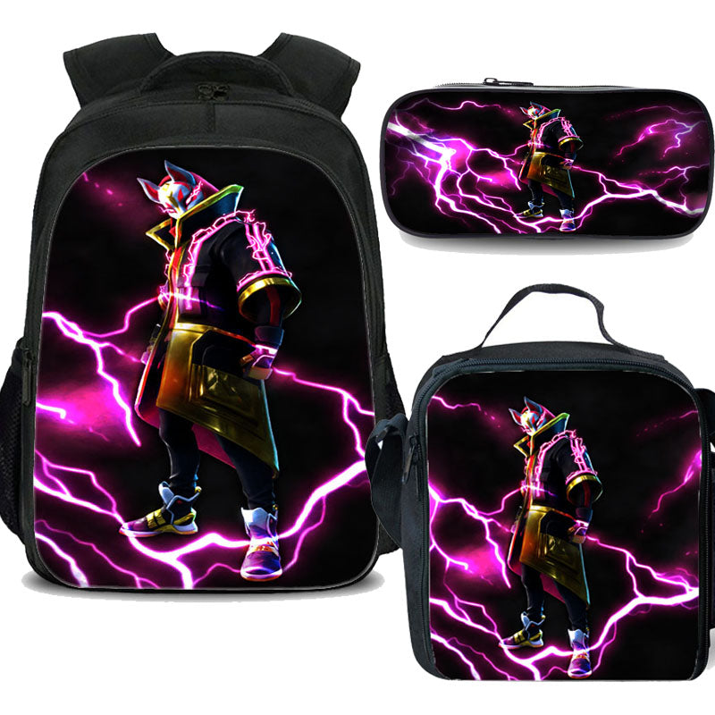 fortnite drift backpack with lunch bag and pencil case
