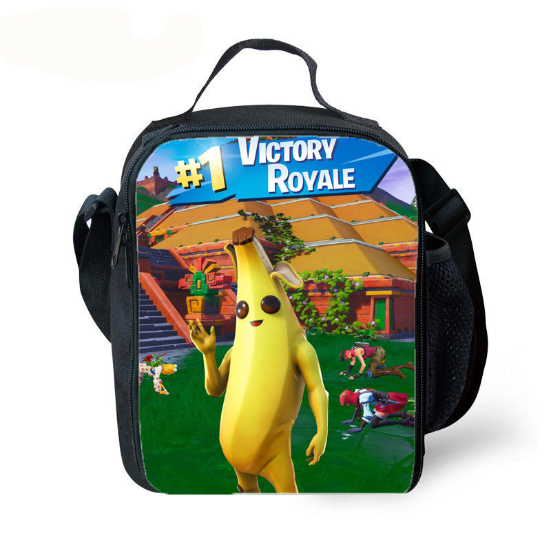 fortnite peely backpack with lunch box and pencil case 3pcs