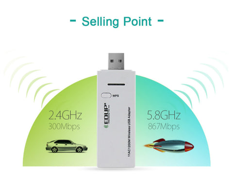 USB wireless WIFI adapter 1200mbps High speed wifi receiver dual band USB  3 0 Ethernet Adapter
