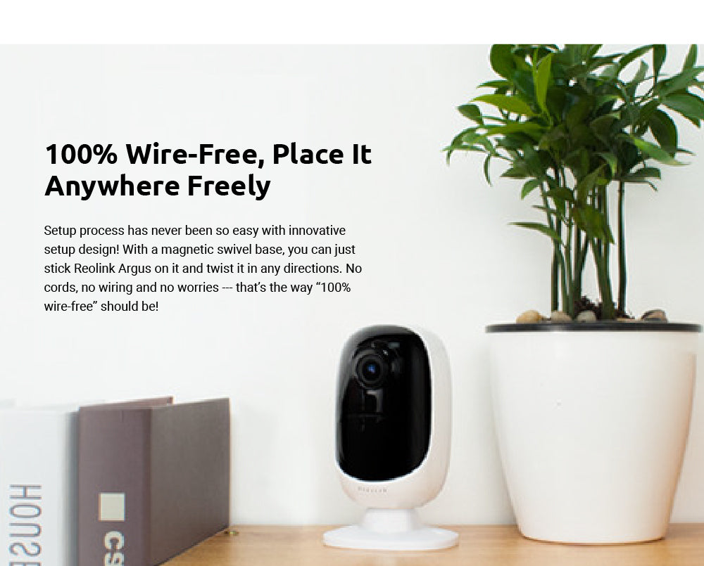 Reolink Argus 2 WiFi Camera Rechargeable Battery Powered 1080P Full HD  Outdoor IP Cam Baby Monitor