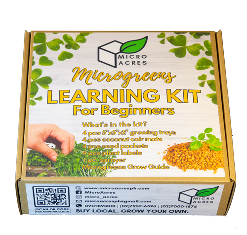 Microgreens Learning Kit for BEGINNERS
