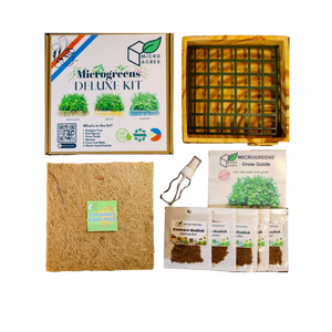 DELUXE Microgreens Starter Kit (Wood Design)