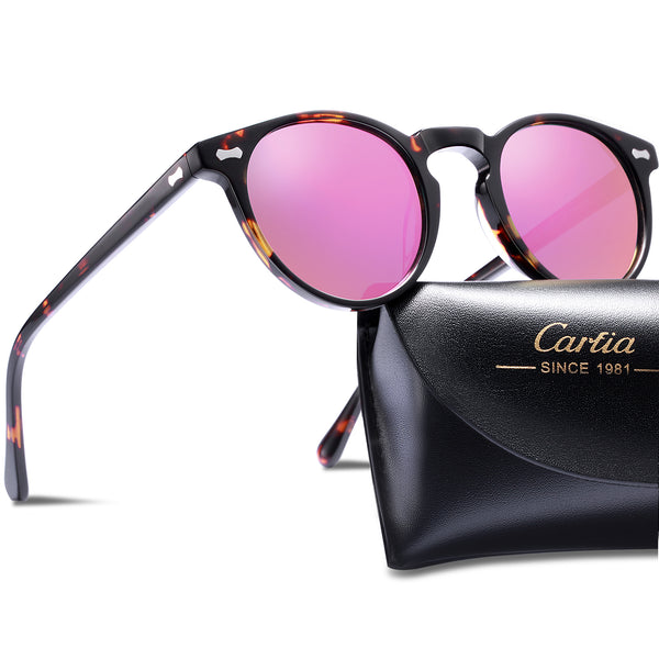 Round Polarized Sunglasses for Women