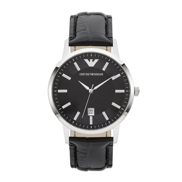 Emporio Armani Renato Leather Watch AR11186 - Black