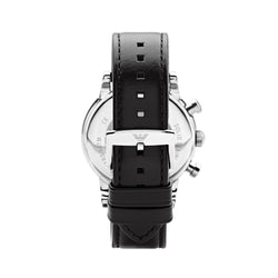 Emporio Armani Classic Chronograph Watch AR1733 Black - Back