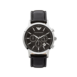 Emporio Armani Men's Classic Chronograph Watch AR2447 - Black Front