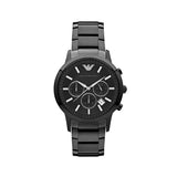 Emporio Armani Men's Classic Chronograph Watch AR2453 - Black Front