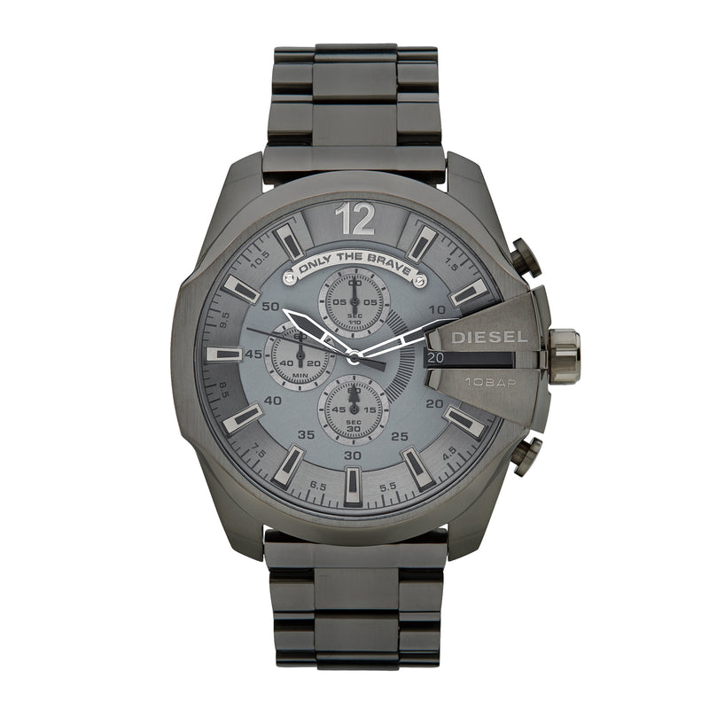 Diesel Mega Chief Chronograph Watch DZ4282 Gunmetal - Front