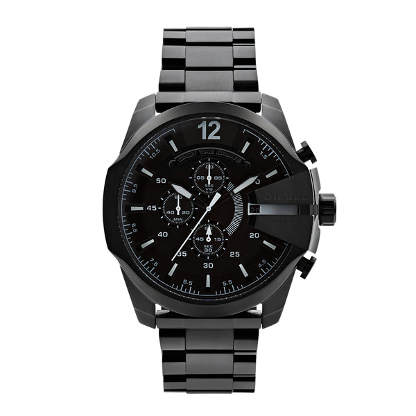 Diesel Mega Chief Chronograph Watch DZ4283 Black - Front