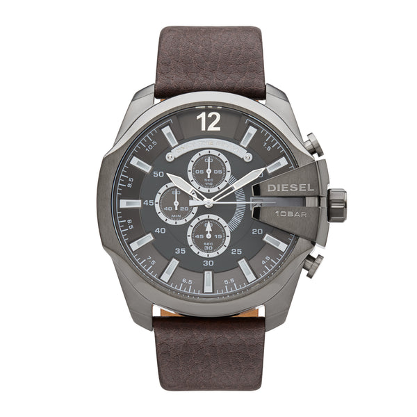 Diesel Mega Chief Chronograph Watch DZ4290 Brown - Front