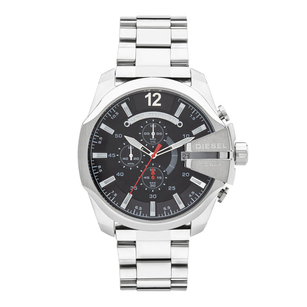 Diesel Mega Chief Chronograph Watch DZ4308 Silver - Front
