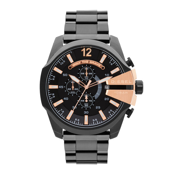Diesel Mega Chief Chronograph Watch DZ4309 Rose Gold - Front