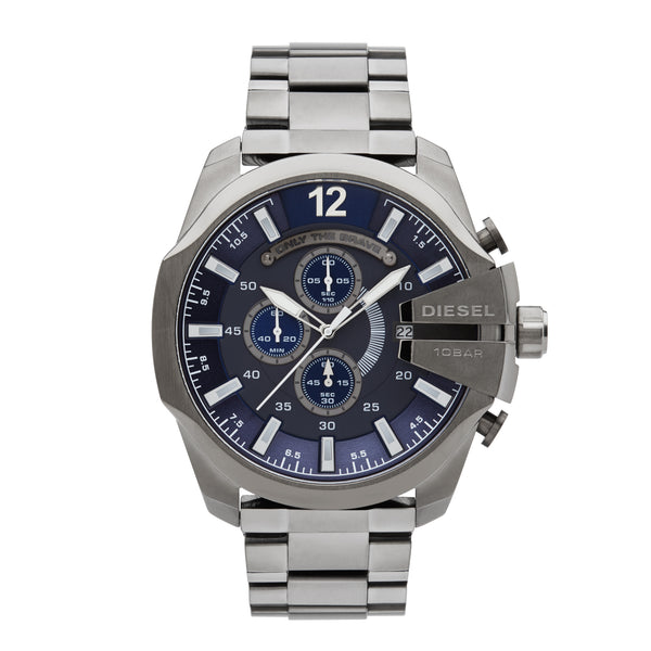 Diesel Mega Chief Chronograph Watch DZ4329 Blue - Front