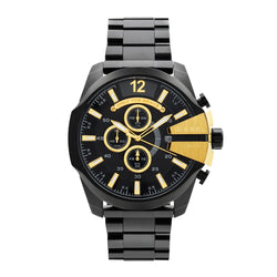 Diesel Mega Chief Chronograph Watch DZ4338 Black - Front