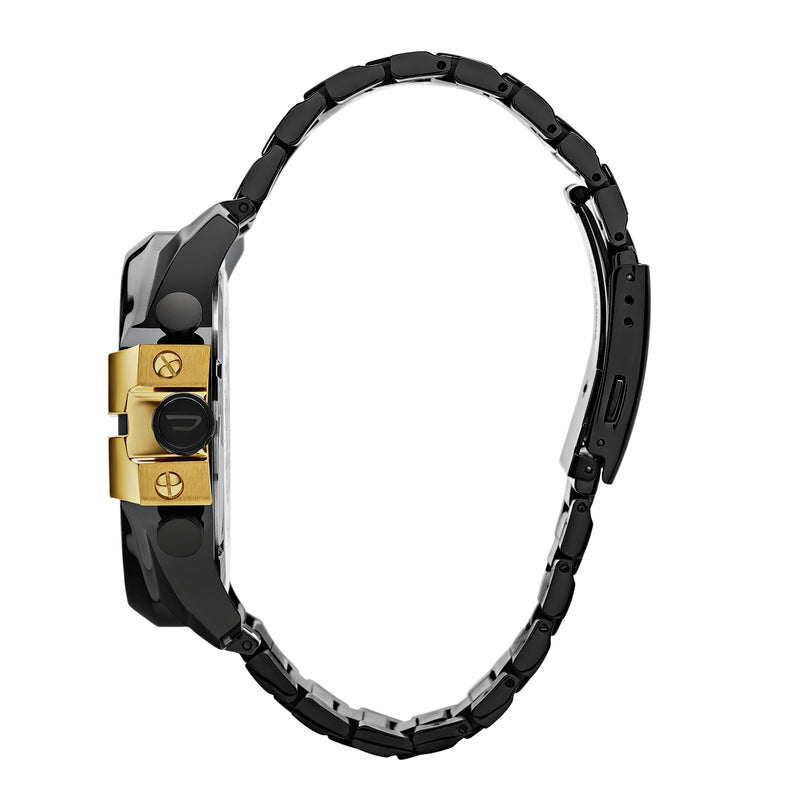 Diesel Mega Chief Chronograph Watch DZ4338 Black/Gold - Side