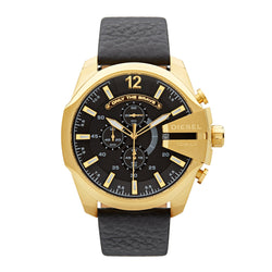 Diesel Mega Chief Chronograph Watch DZ4344 Black/Gold - Front