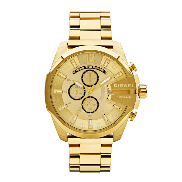 Diesel Mega Chief Men's Chronograph Watch Gold DZ4360 - Front