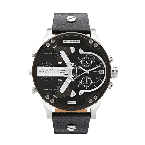 Diesel Mr. Daddy 2.0 Chronograph Watch DZ7313 Silver/Black - Front