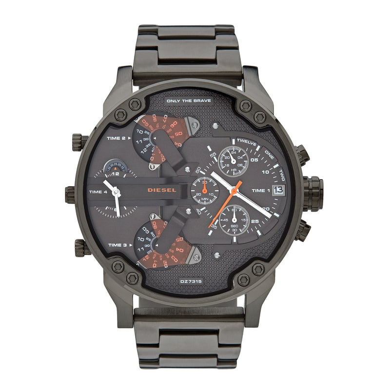 Diesel Mr. Daddy 2.0 Chronograph Watch DZ7315 Gunmetal - Front