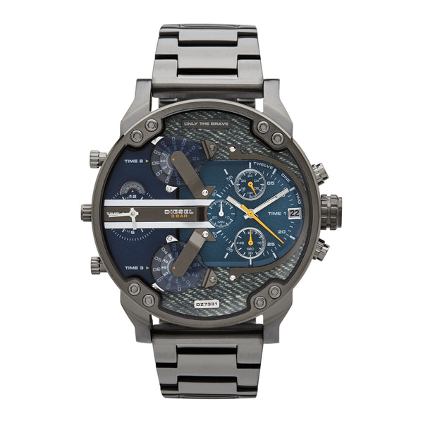 Diesel Mr. Daddy 2.0 Chronograph Watch DZ7331 Denim Blue - Front