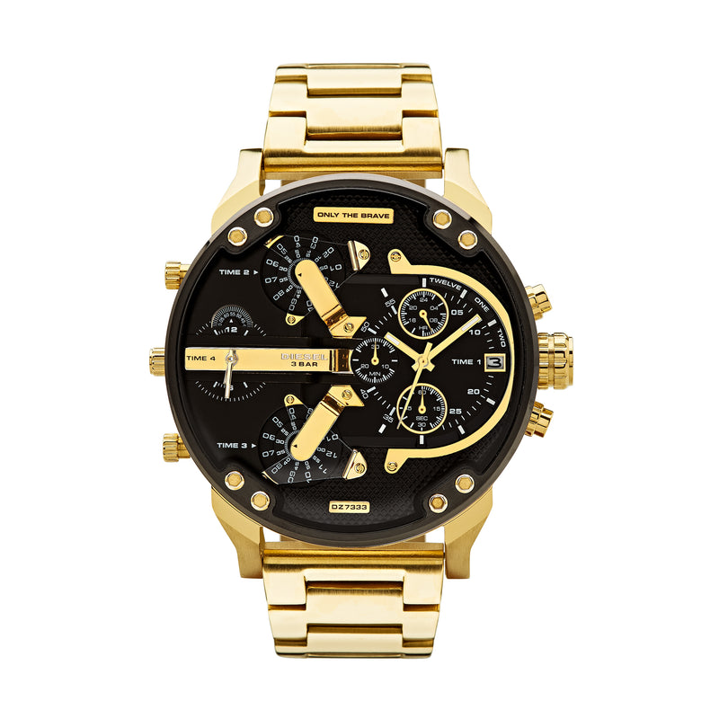 Diesel Mr. Daddy 2.0 Men's Chronograph Watch Black/Gold DZ7333 - Front
