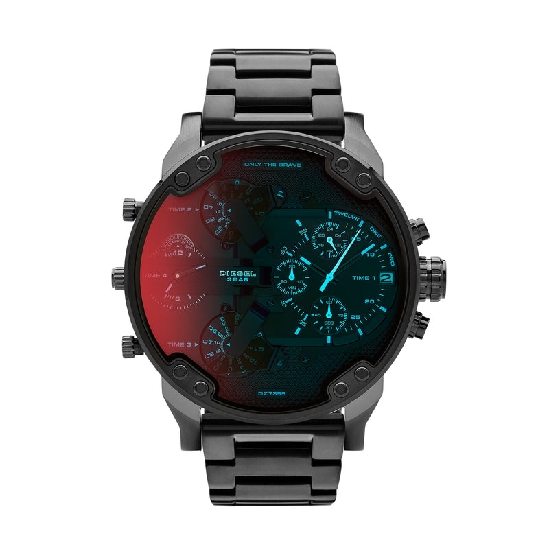 Diesel Mr. Daddy 2.0 Men's Chronograph Watch Iridescent Black DZ7395 - Front