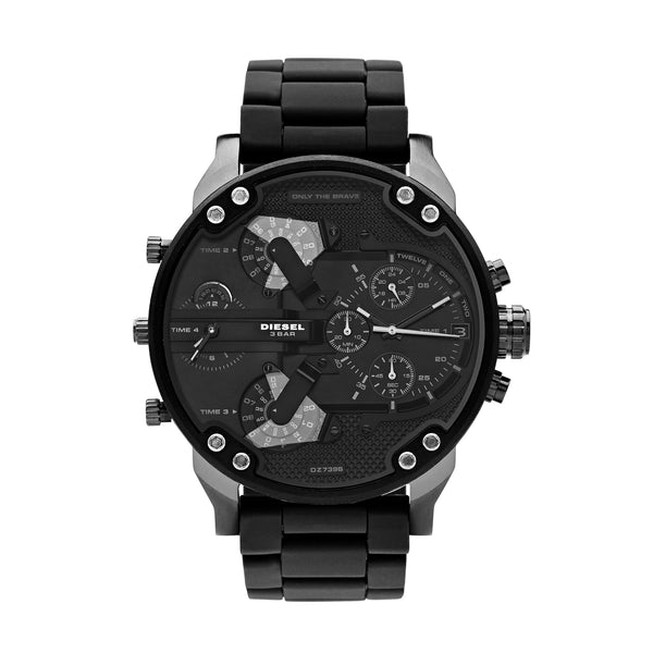Diesel Mr. Daddy 2.0 Men's Chronograph Watch Black DZ7396 - Front