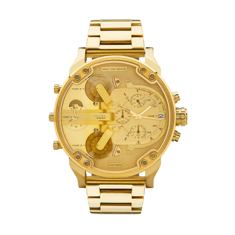 Diesel Mr. Daddy 2.0 Men's Chronograph Watch Gold DZ7399 - Front