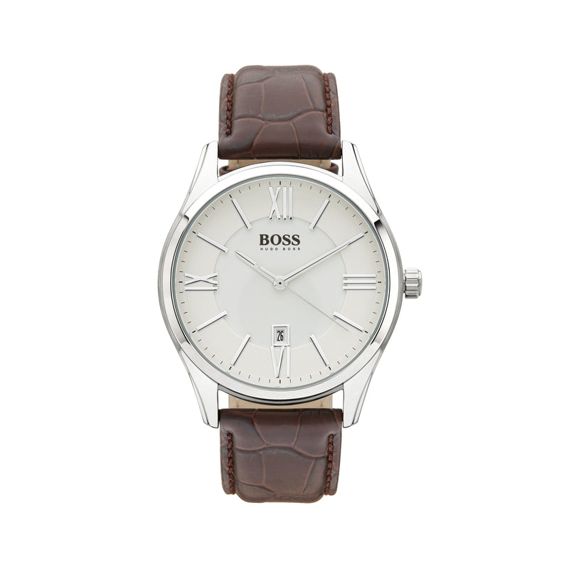 Hugo Boss Ambassador Watch 1513021 Brown/Silver - Front