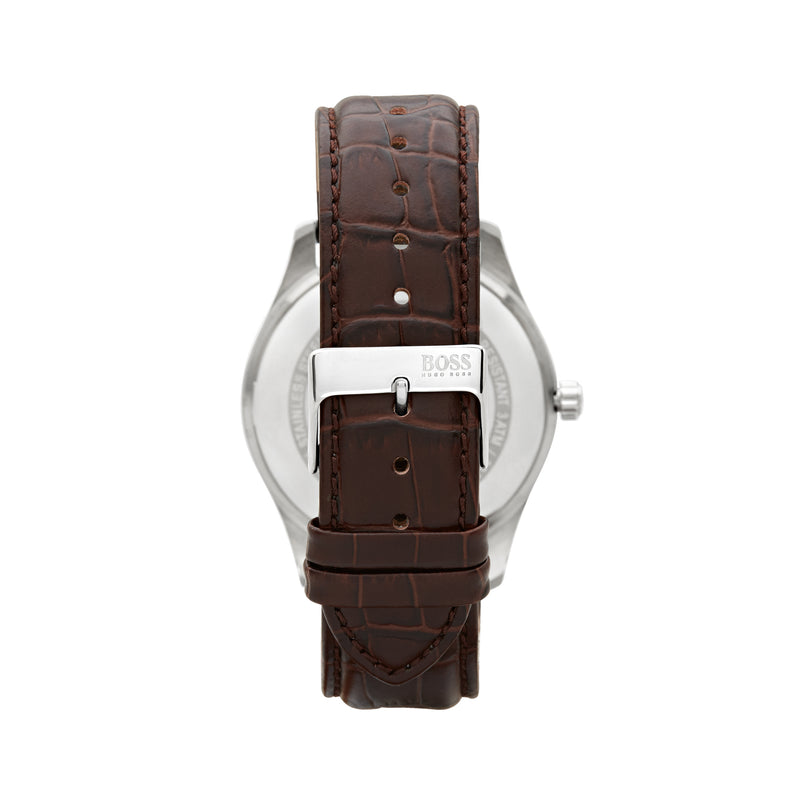 Hugo Boss Ambassador Watch 1513021 Brown/Silver - Back