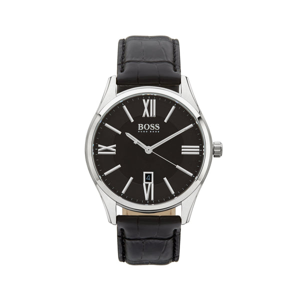 Hugo Boss Ambassador Watch 1513022 Black/Silver - Front