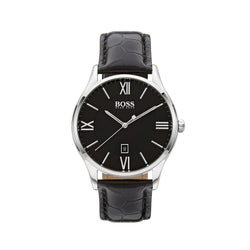 Hugo Boss Governor Watch 1513485 Black/Silver - Front