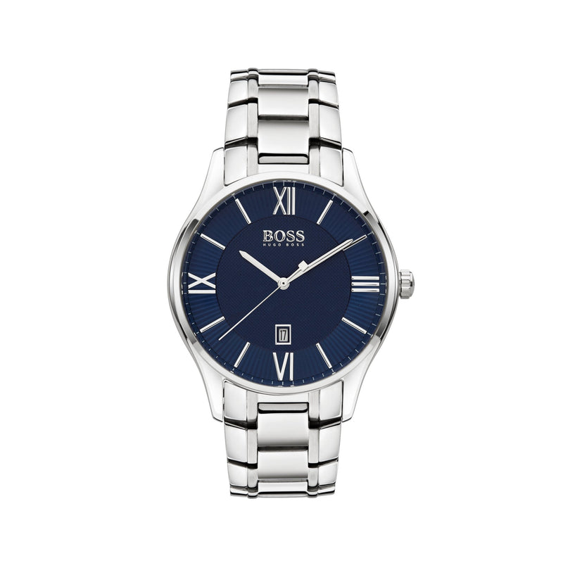 Hugo Boss Governor Watch 1513487 Blue/Silver - Front