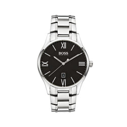 Hugo Boss Governor Watch 1513488 Black/Silver - Front