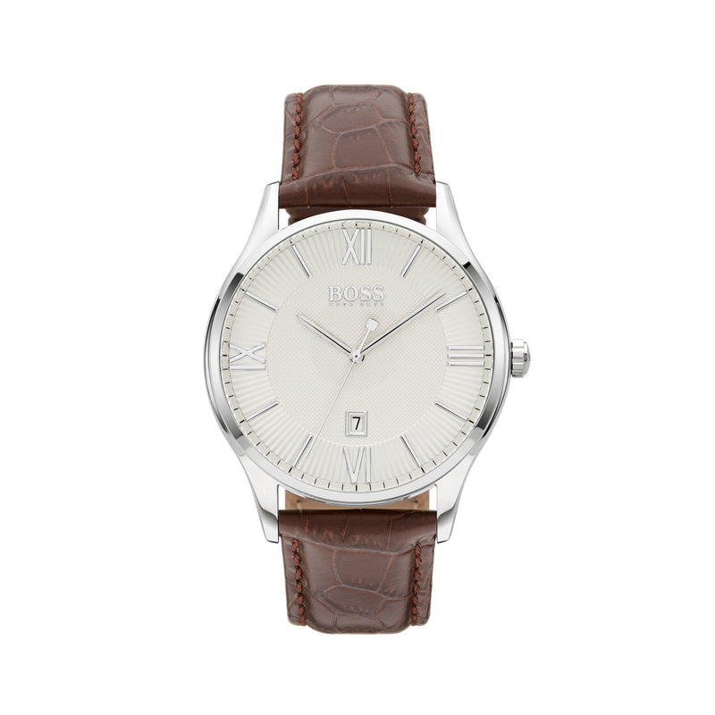 Hugo Boss Governor Watch 1513555 Brown/Silver - Front