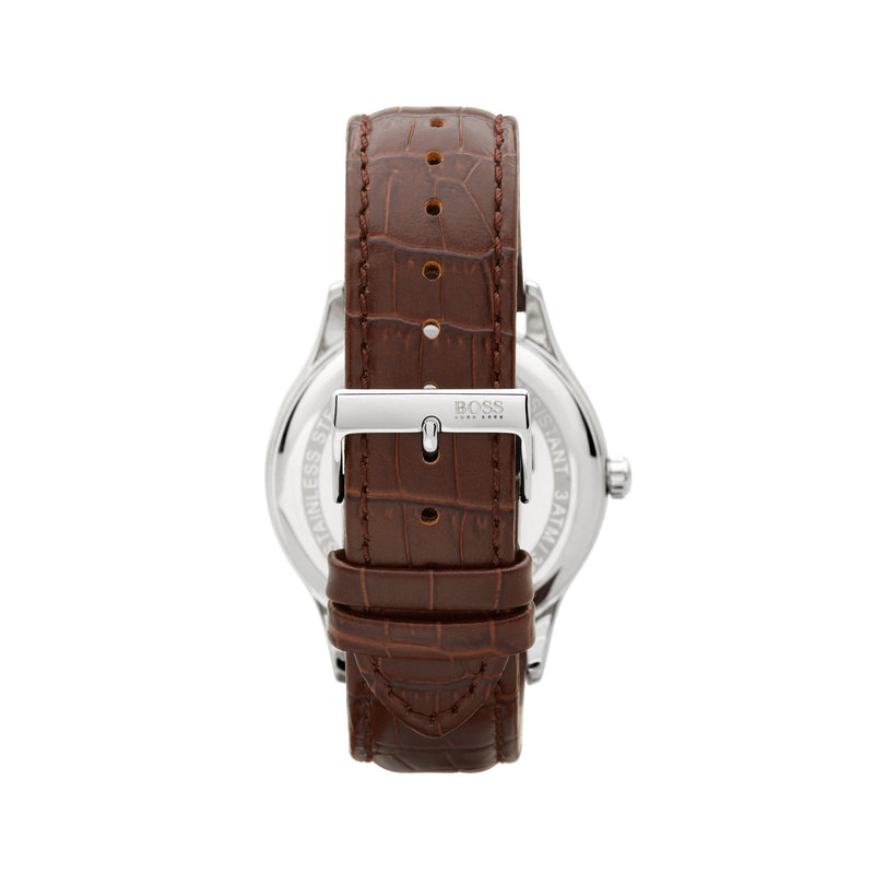 Hugo Boss Governor Watch 1513555 Brown/Silver - Back