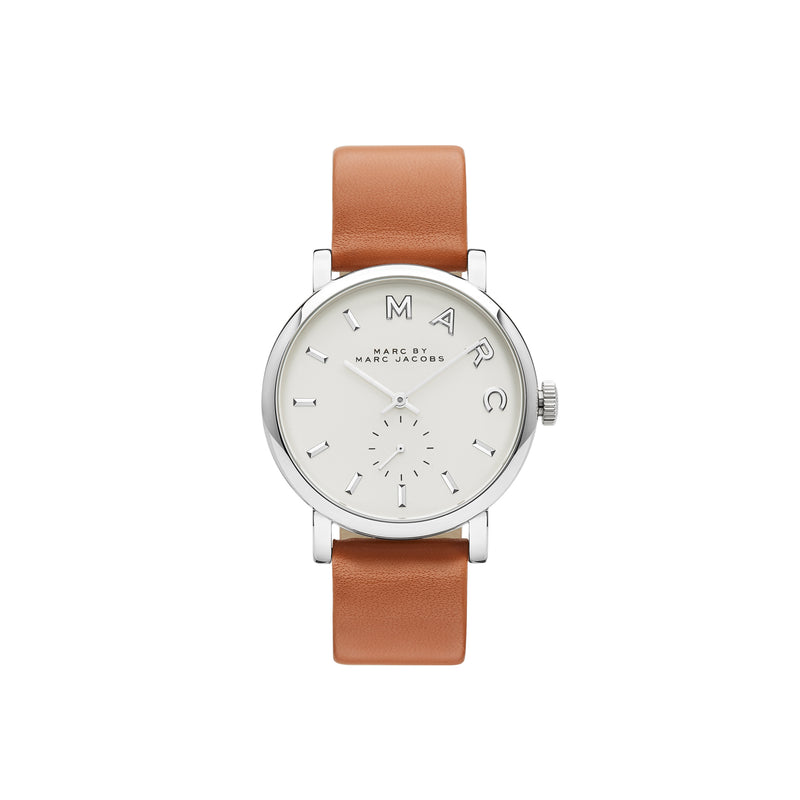 Marc Jacobs Baker Watch MBM1265 Silver/Brown - Front