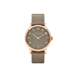 Marc Jacobs Ladies Baker Watch MBM1266 - Rose Gold/Grey Front