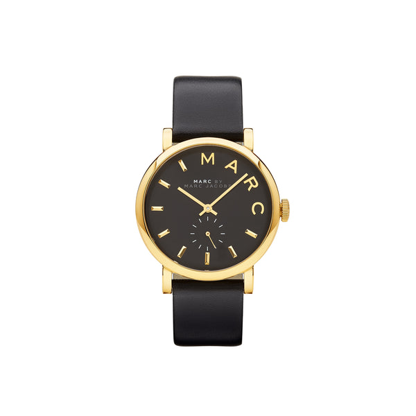 Marc Jacobs Ladies Baker Watch MBM1269 - Gold/Black Front