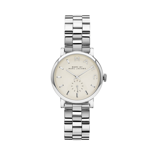 Marc Jacobs Ladies Baker Watch MBM3242 - Silver Front