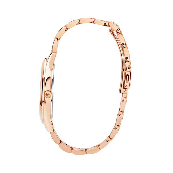 Michael Kors Runway Watch MK3197 Rose Gold - Side